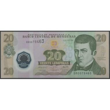 Honduras, 20 Lempiras 31 Jul 2008 P95
