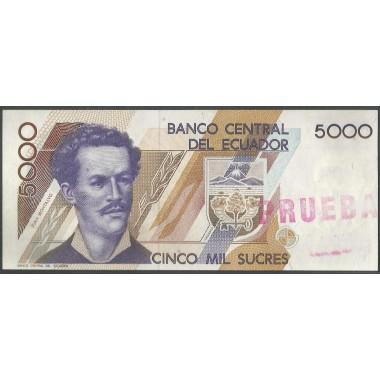 Ecuador, 5.000 Sucres ND1991-9 P128 PRUEBA