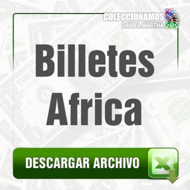 Listado de Billetes de Africa