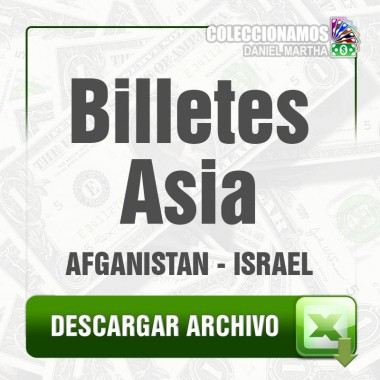 Listado de Billetes de Asia 1