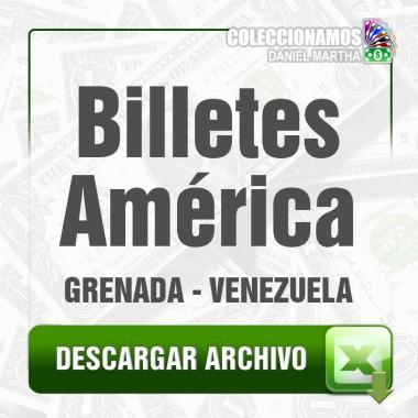 Listado de Billetes de América 2