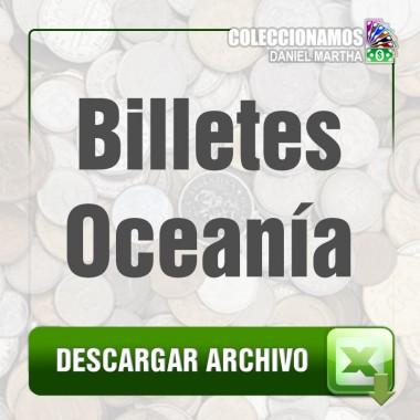 Listado de Billetes de Oceanía