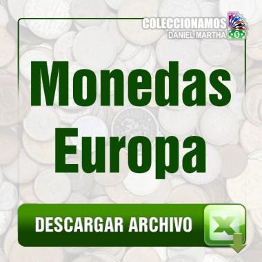 Listado de Monedas de Europa