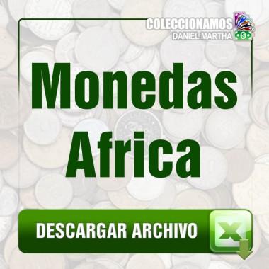Listado de Monedas de Africa