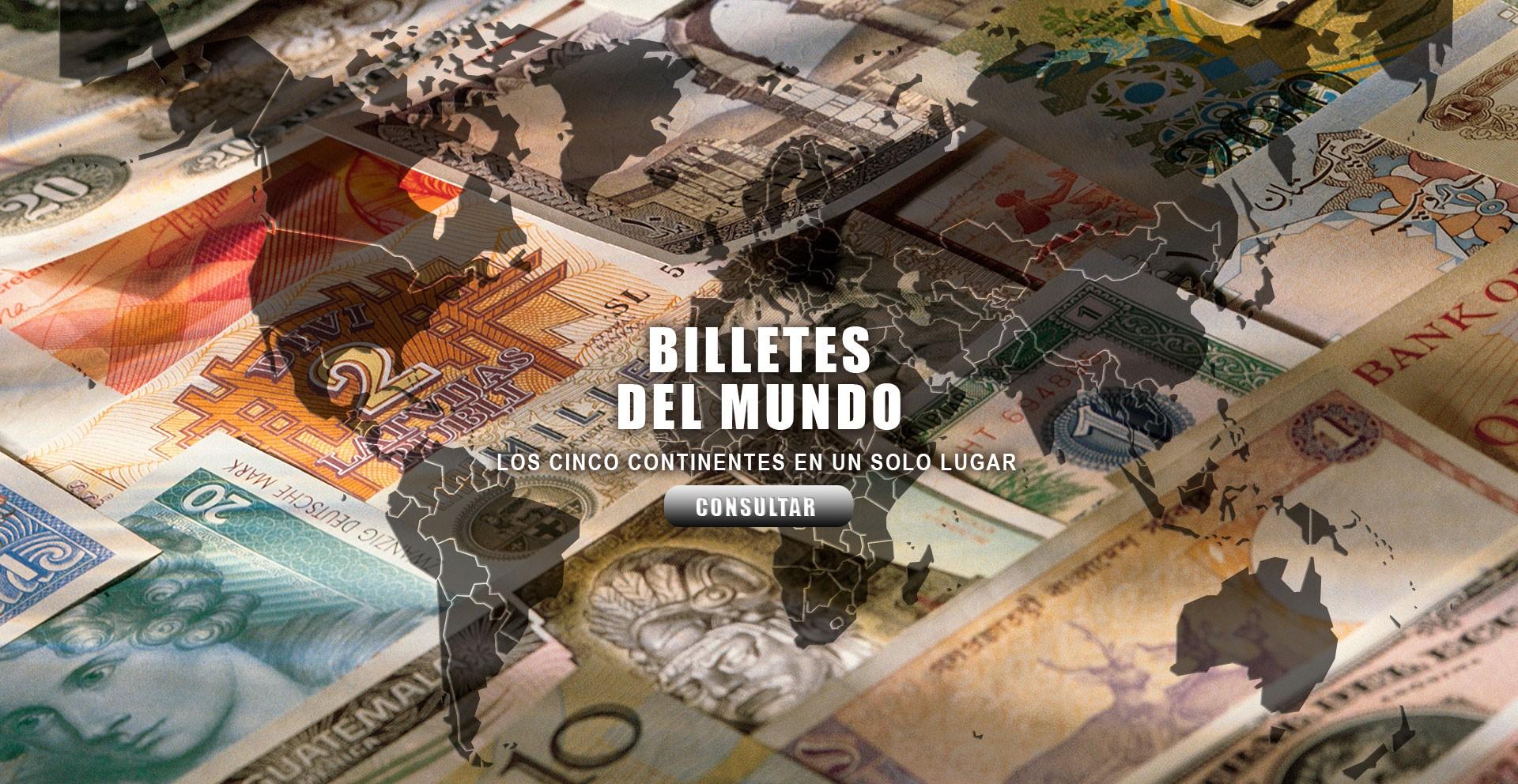Listados de billetes del mundo