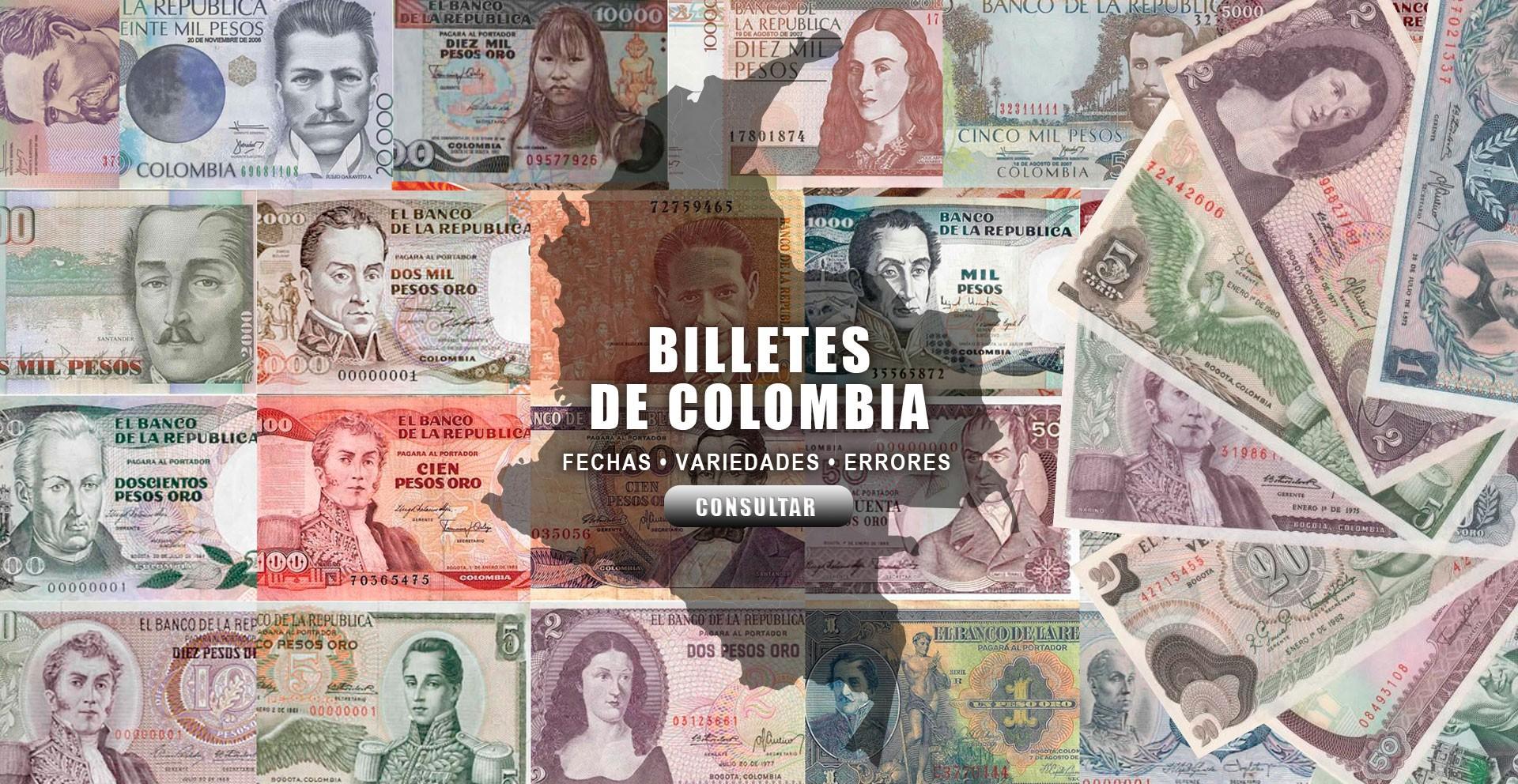 Lista de billetes de Colombia